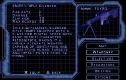 SF3 Sniper Rifle Silenced Screen