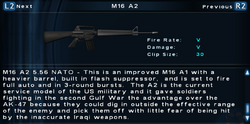 SFTOS M16 A2 Screen