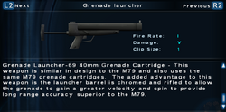 SFTOS Grenade launcher Screen