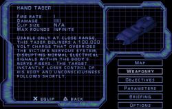 SF2 Hand Taser Screen