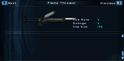 SFTOS Flame Thrower Screen