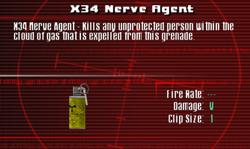 SFCO X34 Nerve Agent Screen