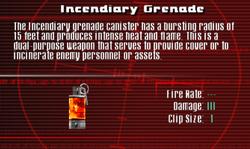 SFCO Incendiary Grenade Screen