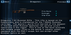 SFTOS Dragunov Screen
