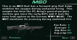 SFDM M60 Screen
