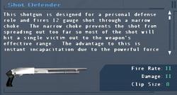 SFLS Shot Defender Screen