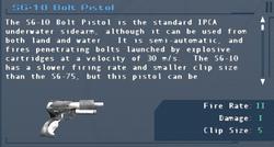 SFLS SG-10 Bolt Pistol Screen