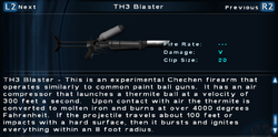 SFTOS TH3 Blaster Screen