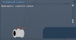 SFLS Control Valve Screen