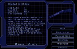 SF1 Combat Shotgun Screen