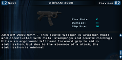 SFTOS ABRAM 2000 Screen