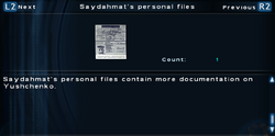 SFTOS Saydahmat's personal files Screen