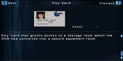 SFTOS Key Card Screen
