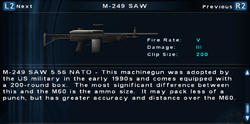 SFTOS M-249 SAW Screen