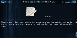 SFTOS File documents on the ALA Screen