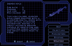 SF1 Sniper Rifle Screen