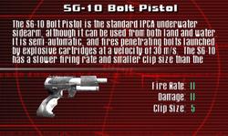 SFCO SG-10 Bolt Pistol Screen
