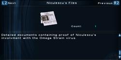 SFTOS Niculescu's Files Screen