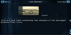 SFTOS Lab Sample Screen