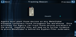 SFTOS Tracking Beacon Screen