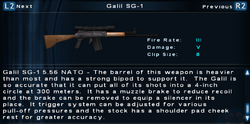 SFTOS Galil SG-1 Screen