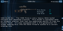SFTOS VSS-DU Screen
