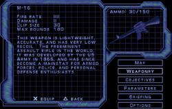SF2 M-16 Screen