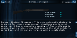 SFTOS Combat shotgun Screen