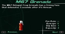 SFDM M67 Grenade Screen