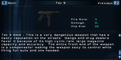 SFTOS Tec 9 Screen