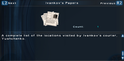 SFTOS Ivankov's Papers Screen