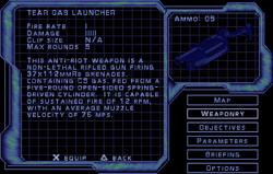 SF2 Tear Gas Launcher Screen