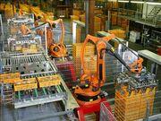 Factory Automation Robotics Palettizing Bread