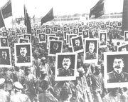 Stalin 70 birthday in China 1949