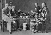 Opium smokers in China