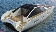 Solar panels on a yacht