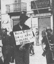 Italian partisan hung