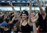 Fans in Croatia wear ustashe caps