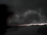 Typhoon in Hong Kong