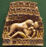 Lion-eating-man