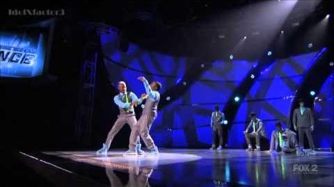 BluPrint & Jade Perform Christopher Scott (Animation) SYTYCD 10 (Top 20 Revealed)