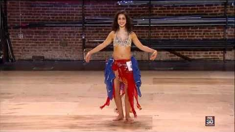 Janelle Issis - Belly Dancing in 3D! - So You Think You Can Dance - Atlanta Auditions