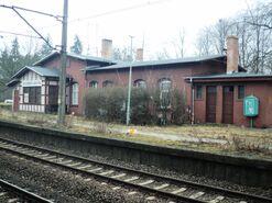 Stacja Szczecin Łękno budynek stacji