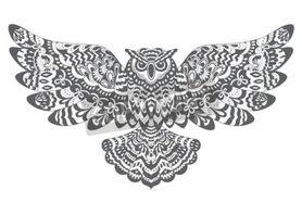 Stylizowane-sowa-wektorowa-sowa-rysunek-do-kolorowania-ksiazki-lub-druk-na-koszulke-400-91320137