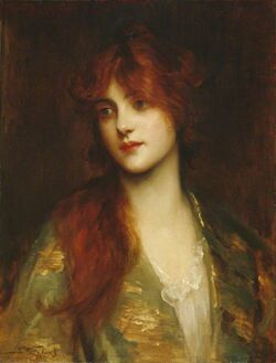 Sir Luke Fildes - Carina, 1910