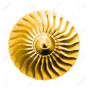 30616077-jet-engine-as-an-isolated-golden-sun-graphics-element-Stock-Photo
