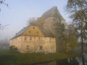 Ritterturm in Boberröhrsdorf (Wieża rycerska Siedlęcin)