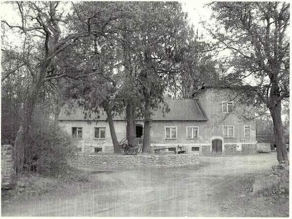 Dwór rycerski Gniewkowo-Rittergut Eichenheim, Einfahrt zum Gutshaus des entstehenden Museums für Blank- und Schußwaffen-2003