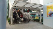 Shenzhen Metro Line 4 Qinghu Sta Exit to SZTram