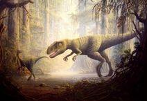 Allosaurus and Ornitholestes